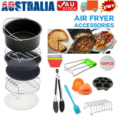 AU25.50 • Buy 8  Air Fryer Accessories Rack Cake Pizza Oven Barbecue Frying Pan Tray AU