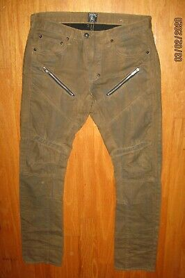 Prps Goods & Co. Demon Men's Brown Distressed Zipper Biker Jeans Size 32 X 34 • 71.52£