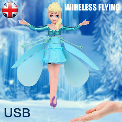 Frozen Princess Flying Fairy Magic Infrared Induction Control Toy Kids Gift - UK • 6.99£