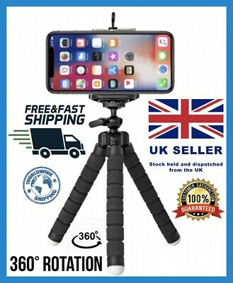 Universal Mini Mobile Phone Holder Tripod Stand Grip For IPhone Camera Samsung  • 9.99£