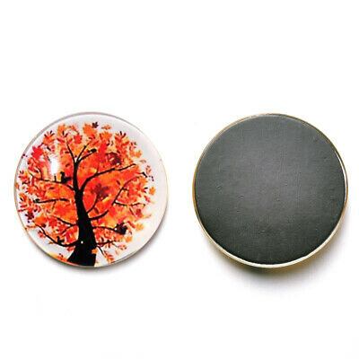 AU11.75 • Buy 12 Pcs Refrigerator Magnets Round Glass Fridge Stickers For Walls Home