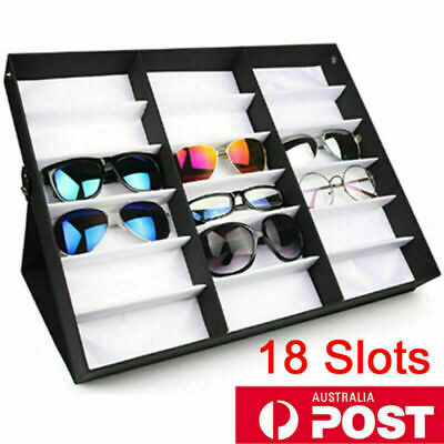 AU31.50 • Buy AU 18 Slots Sunglasses Display Counter Stand Storage Rack Cabinet Organizer Case