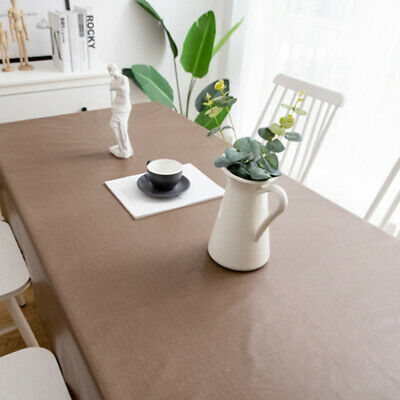 AU39.13 • Buy Home Tablecloth Waterproof Oil-Proof PVC Dining Table Cover Protector Decoration