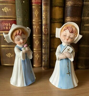 £12.99 • Buy  Hummel Bisque Vintage NAPCO Japan Young Nuns With Flower Prayer Book Figurines