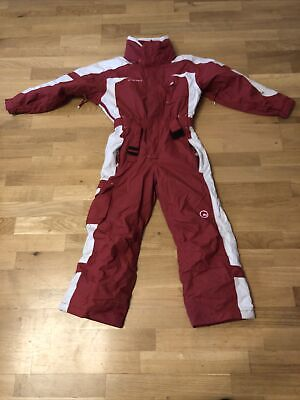 £35 • Buy Ski/Snow Suit All In One Child Age 4-6 Years Red And White All In One 122/133cm