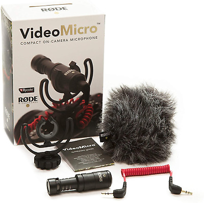 Rode VideoMicro Compact On-Camera Microphone With Rycote Lyre Shock Mount • 58.02£