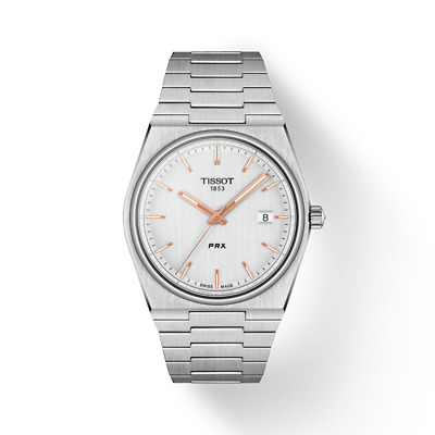 $ CDN417.31 • Buy New Tissot PRX Stainless Steel White Dial Men's Watch T137.410.11.031.00