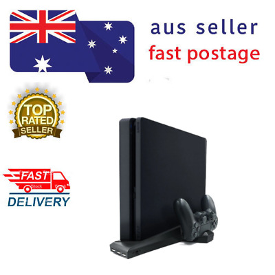 AU45 • Buy FOR PS4/PS4 Slim/ps4 Pro VERTICAL STAND With Cooling Fan Dual CONTROLLER CHARGER