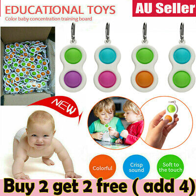AU11.25 • Buy Baby Simple Dimple Sensory Fidget Toy Silicone Flipping Board 3+ Kids Gift AU
