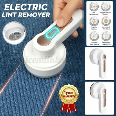 Electric Lint Remover Cleaner Fabric Shaver Defuzzer Clothes USB Rechargeable UK • 10.59£
