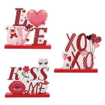 £4.68 • Buy Valentine's Day Table Decorations For Dinner Party Wooden Centerpieces Sign Love
