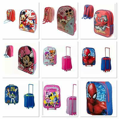 £13.90 • Buy Children Kids Backpack Trolley Suitcase Cabin Luggage Disney Toy Story Spiderman