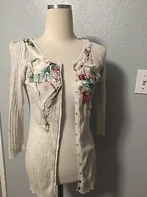 $ CDN29.03 • Buy Anthropologie GUINEVERE Cardigan Sweater Small