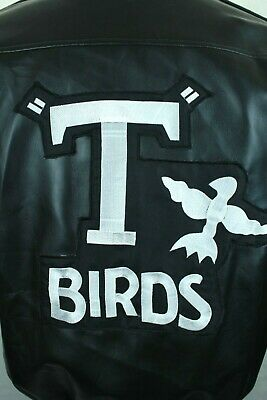 £29.23 • Buy Grease The Movie Black T-birds Faux Leather Jacket Simply Fun Costumes Size L