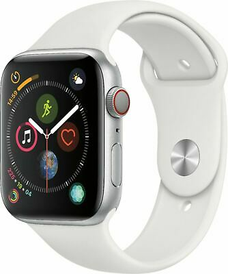 $ CDN284.07 • Buy Apple Watch Series 4 44 Mm Silver NIKE Aluminum Case With White Sport Band LTE