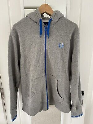 £45 • Buy Fred Perry Mens Grey Hooded Zip Up Jumper XL