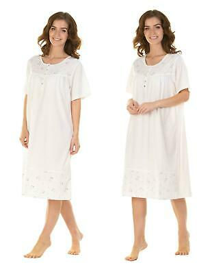 Women's Ladies Short Sleeve Nightdress Jersey Cotton S M L XL XXL By La Marquise • 13.99£