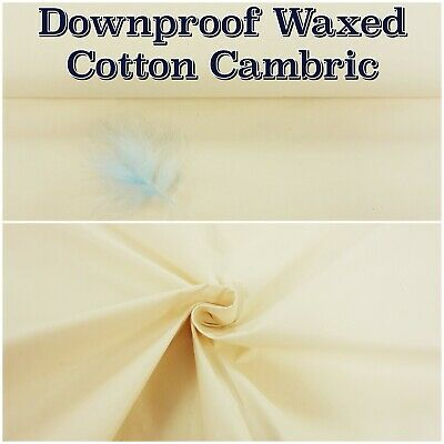 £5.95 • Buy Waxed Cotton CAMBRIC Feather Down Proof Pillow Cushion Craft Fabric Material