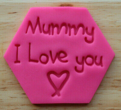 Mummy I Love You Stamp Embosser, Cookie Mother's Day Stamp - 3058 • 5£