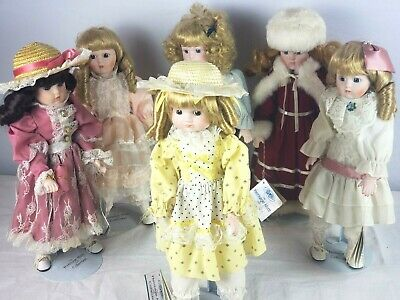 $ CDN145.18 • Buy 6pcs LOT: Heritage Mint Vintage Dolls, 16  Tall, Seasonal Dress, Stands Included