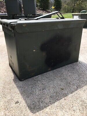 $10 • Buy .50 CALIBER 5.56mm Military AMMO CAN M2A1 M2A2 50CAL METAL AMMO CAN BOX