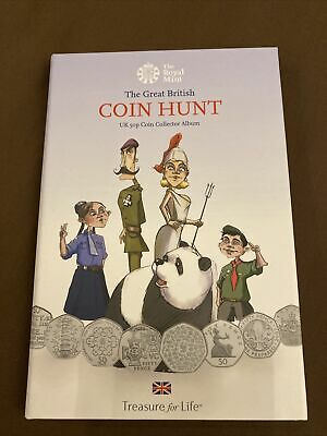 The Great British Coin Hunt UK 50 Pence Coin Collector Album • 35£