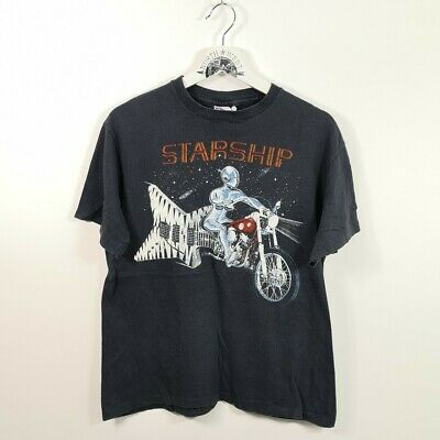 Vintage Hayes 1987 Starship Tour Band Single Stitch Tshirt Made In USA. • 60£
