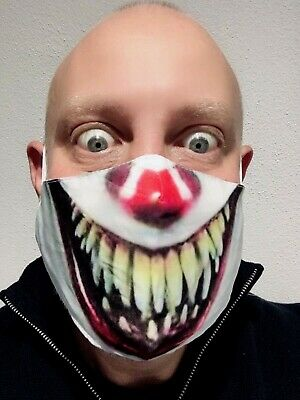£2.99 • Buy It Clown - Pennywise Face Mask Protective Comfortable Cover Uk Seller