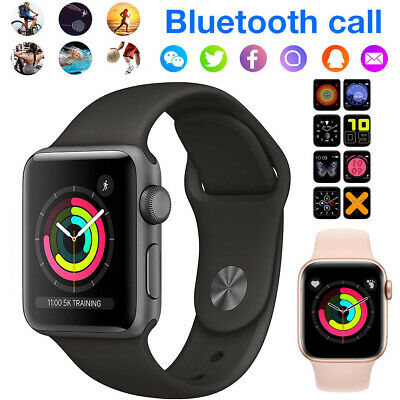 AU28.89 • Buy Smart Watch Bracelet Wristband Calling Heart Rate Fitbits Style For Apple IPhone
