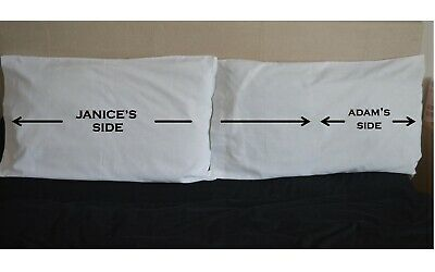 Her His Side PERSONALISED NAME Pillowcases Pillow Case Wedding Couple Valentine • 15.99£