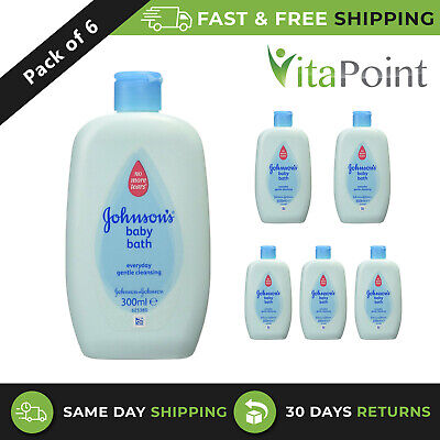 £10.91 • Buy Johnson's Baby Bath Everyday Gentle Cleansing 300ml / Pack Of 6