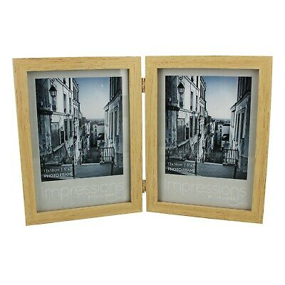 £11.95 • Buy Double Natural Wood Design 5'' X 7'' Photo Frame New Gift Boxed Fw51957
