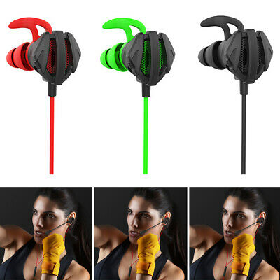 3.5mm Gaming Headset Headphone In-Ear Stereo Mic Earphone For Switch PS4 Laptop • 9.02£