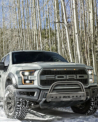 $107.96 • Buy For 2004–2020 Ford F-150 Pickup Bull Bar Bumper Guard Brush Push Grille Silver