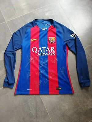 AU525.22 • Buy 2016-17 Barcelona Player Issue Vapor Match UCL Home Shirt Nike Signed By Messi