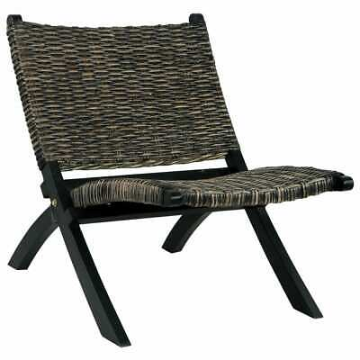 £171.77 • Buy Relaxing Lounge Chair Natural Rattan Seat Backrest Country Small Wood Furniture
