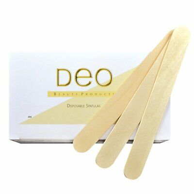 £3.95 • Buy DEO 100 Large Spatulas Professional Disposable Wooden Waxing Wax Sticks  £2.95!!