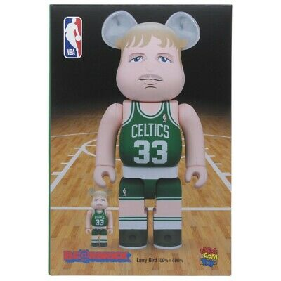 $180 • Buy Medicom BE@RBRICK NBA Larry Bird 100% 400% Bearbrick Figure Set