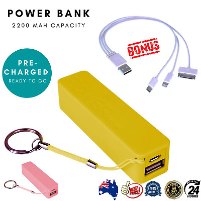 AU9.27 • Buy Laser Universal Power Bank Phone Mobile USB Charger Portable 2200MAH