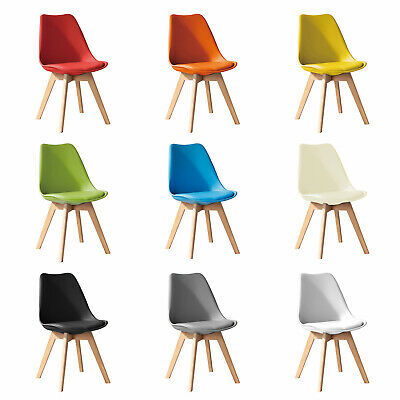 £32.99 • Buy Jamie Dining Chair, Eiffel Inspired, Solid Wood ABS Plastic, Soft Padded Seat
