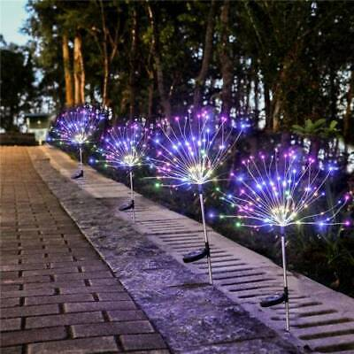 120LED Solar Powered Garden Path Firework Lights Starburst Stake Fairy Light UK • 7.99£