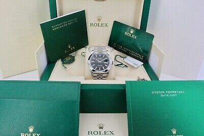 $ CDN13294.38 • Buy Rolex Datejust 126300 Black 41mm Dial Box And Papers 2021 Unworn