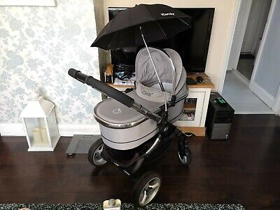 Icandy Peach 2 Silver Mint Pram Pushchair Carrycot & Maxi Cosi Car Seat Adapters • 120£