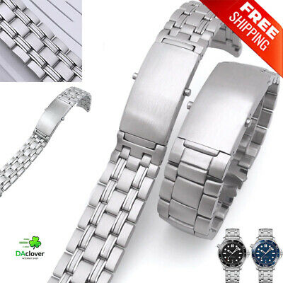 High Quality Watch Band Stainless Steel 20mm For Men Omega Seamaster Metal Strap • 22.03£