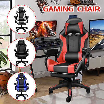 AU114.99 • Buy Gaming Computer Chair Office Chair Executive Chairs Footrest Racer Seating