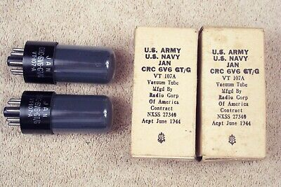 AU158.84 • Buy 2, NEW, RCA 6V6G/GT Tubes, Military Issue, Match Date Pr, Current & Gain, 6V6GT