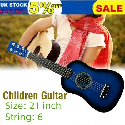 New 21  Children's Kid Wooden Acoustic Guitar Musical Instrument Child Toy • 9.99£