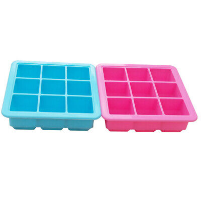9 Grid Gifts Removable Lid Durable Ice Block Trays Kitchen Reusable Maker Mold • 6.33£