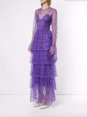 AU350 • Buy Bnwt Alice Mccall Violet Satellite Of Love Gown - Size 8 Au/4 Us (rrp $795)