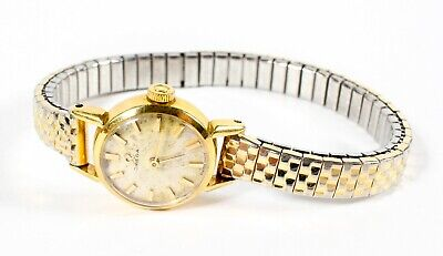 LADIES VINTAGE OMEGA SOLID 18ct GOLD CASE WATCH • 289.99£